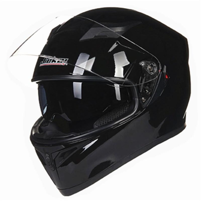 Fronte pieno del casco del motociclo 2 parabrezza casco antigraffio in vetro casco del fronte pieno del casco della bici DOT standard