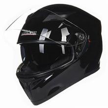 Full face motorcycle helmet 2 windshield helmet anti scratch glass full face bike helmet DOT standard helmet
