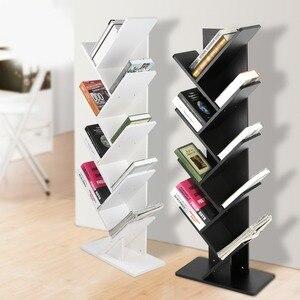 Image 4 - Modern 9 Tier Bookshelf Bookcase Books CDs Display Storage Rack Shelf Organization Cabinet