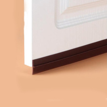 35mm width self adhesive silicone door window bottom sealing strip weatherstripping sound insulation