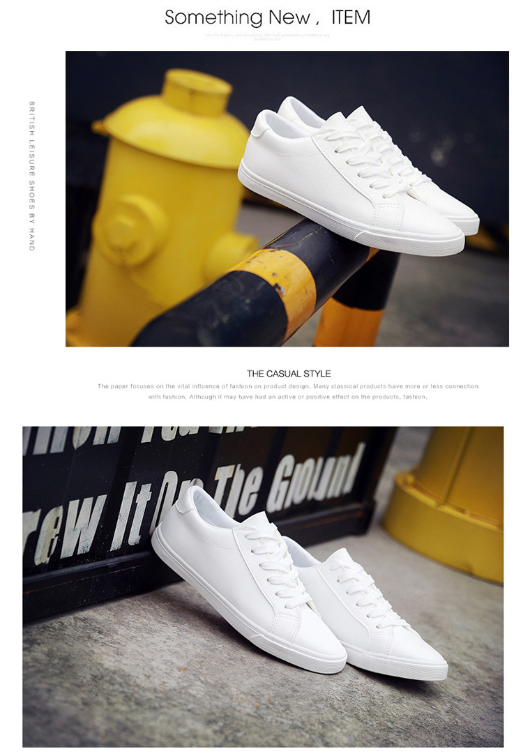16 New Spring and Summer With White Shoes Women Flat Leather Canvas Shoes Female White Board Shoes Casual Shoes Female 2