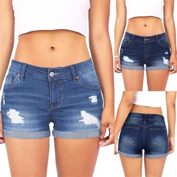 Dżinsy kobieta sexy jean niskiej zwężone poszarpane dziury wygodne krótkie mini dżinsy spodnie dżinsowe szorty porwane dżinsy dla kobiet dżinsy mujer tanie i dobre opinie Poliester Pani urząd Jeans pants Zmiękczania Szerokie spodnie nogi skinny Średni Udzielenie Kobiety Wysoka Fałszywe zamki
