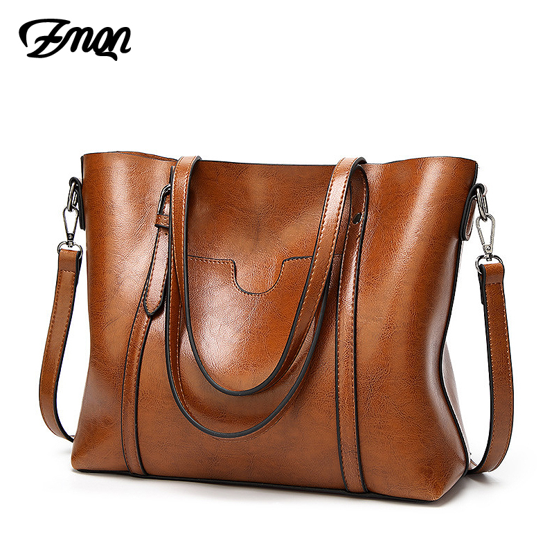 ZMQN Women Bag 2018 Famous Brand Luxury Handbag Women Bags Designer Shoulder Bag Soft Leather High Capacity Vintage Handbag C914