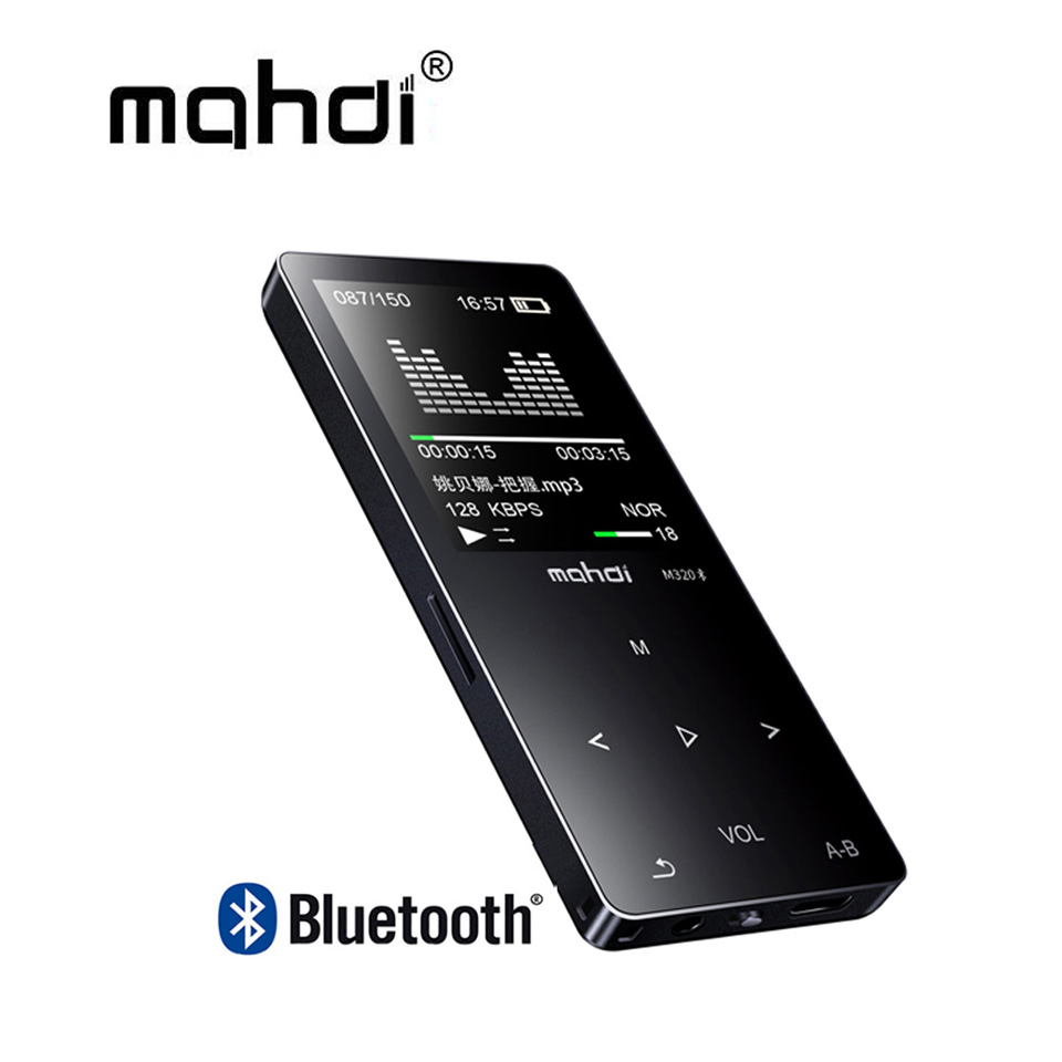 Mahdi M320 Metal Sport Mini MP3 Player bluetooth Portable Audio 8GB with Built-in Speaker FM Radio APE Flac Music Player mahdi m320 metal sport mini mp3 player bluetooth portable audio 8gb with built in speaker fm radio ape flac music player