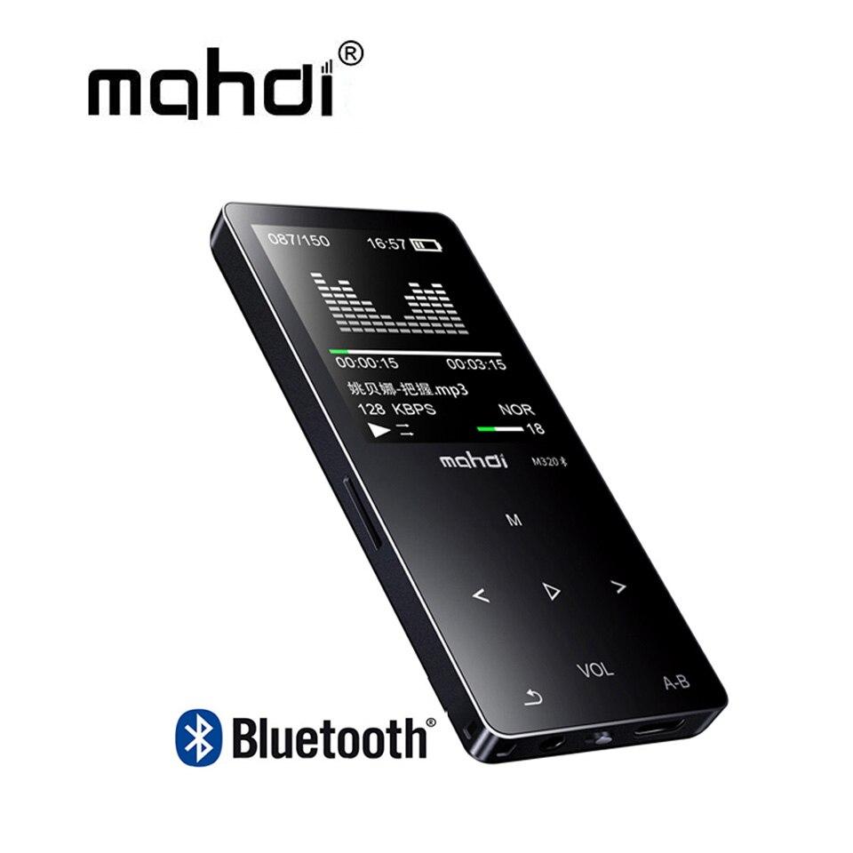 Mahdi M320 Metal deporte Mini MP3 reproductor Audio portátil bluetooth 8 GB con altavoz incorporado Radio FM música APE Flac jugador