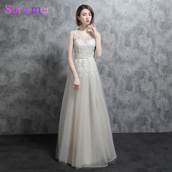 Real Photo Fashion Lace Applique Evening Gown O Neck Sheeri lllusion See Through Long Prom Dress Ivory Evening Dresses