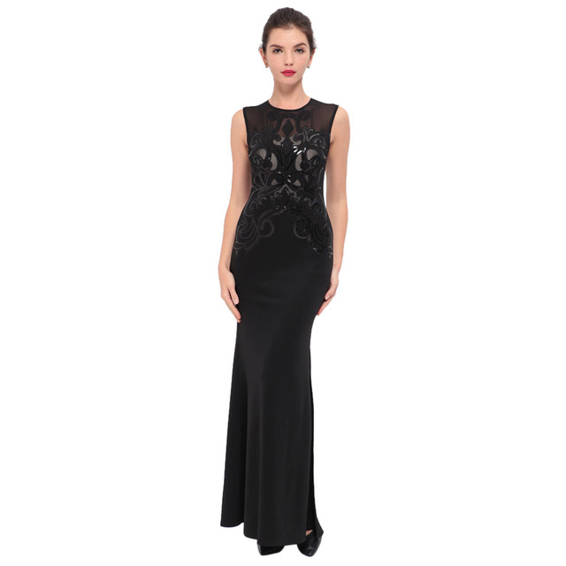 Black mermaid dress online