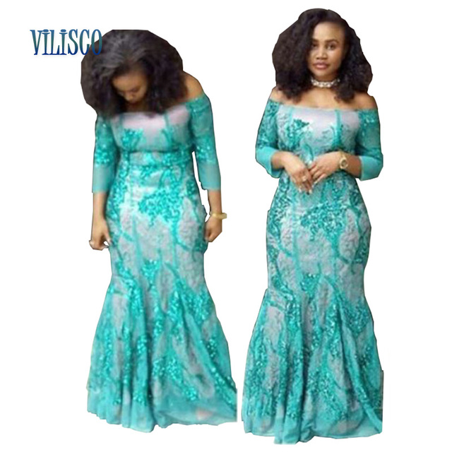 55f70984150 Basin Riche African Lace Dresses for Women Party Vestidos Winter  Embroidered Dress Plus Size 6xl African Women Clothing XG034