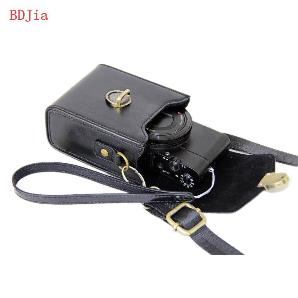 2016 Pu Leather Camera Case Bag Cover for Panasonic ZS3 ZS5 ZS7 TZ3 TZ1 TZ15 ZS30 ZS35 ZS50 With Shoulder Strap