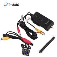Podofo 903 w 2.4g 30fps em tempo real transmissor de vídeo wifi para fpv fotografia aérea câmera de backup do carro av/dc/interface aérea