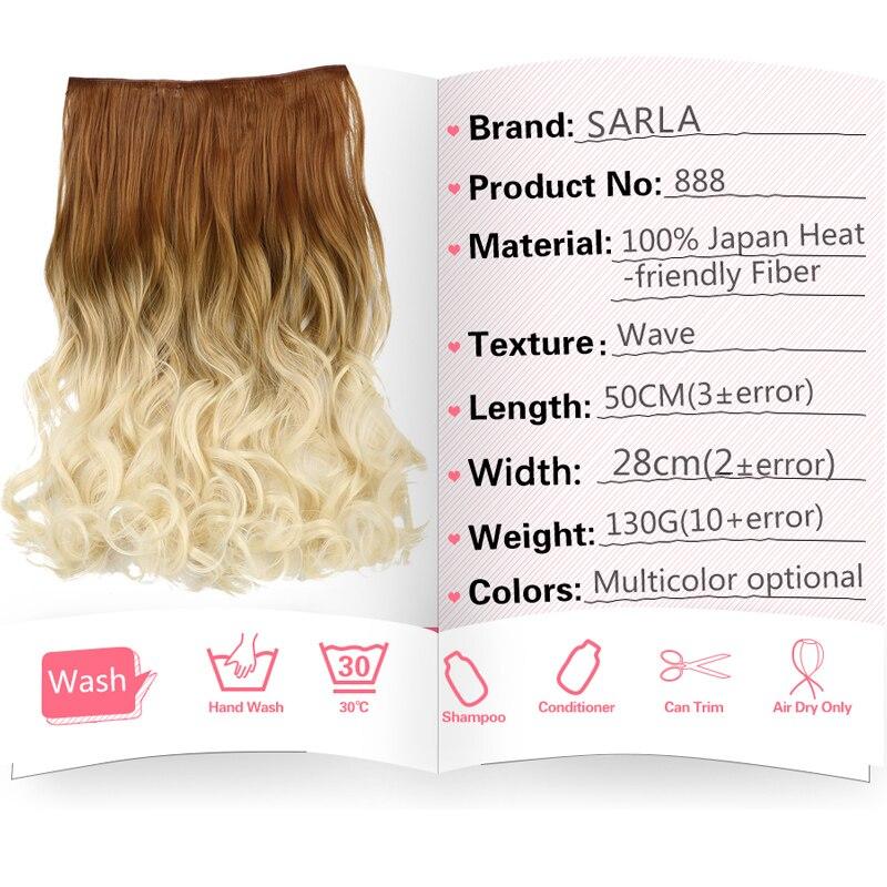 SARLA Ombre Βραζιλιάνικο μακρύ κλιπ σε - Συνθετικά μαλλιά - Φωτογραφία 2