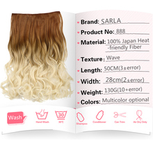 Clip In Hair Extensions Wavy Synthetic 25 Colors