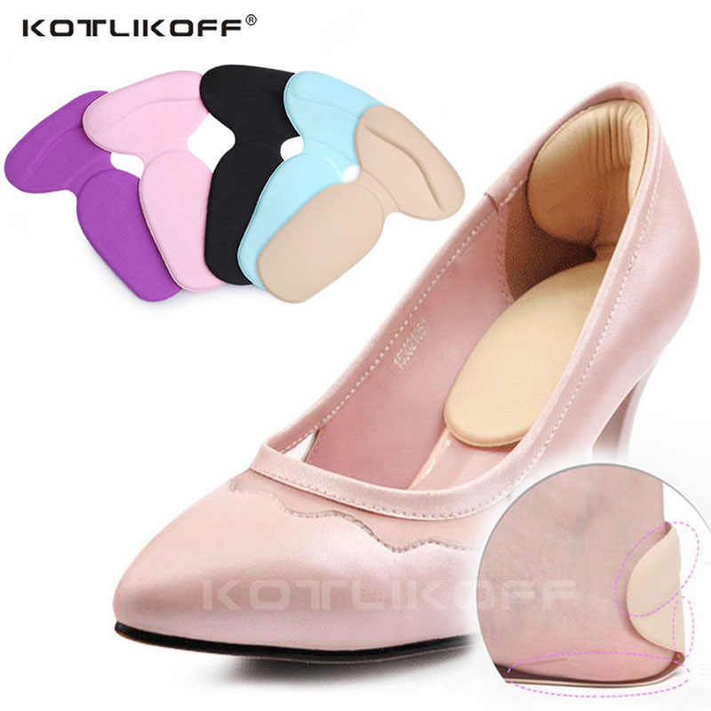 Silicone Gel talon tasses semelles doux t-forme haut talon poignées doublure pour femmes chaussures insérer Anti Friction talon Gel coussin