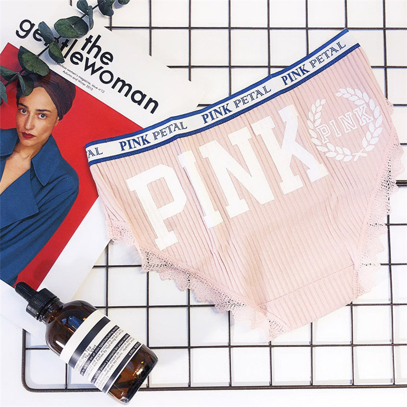 pink panties women breathable women underwear panties cute lace women briefs soft cotton panties women mid waist sexy panty 15 (3)