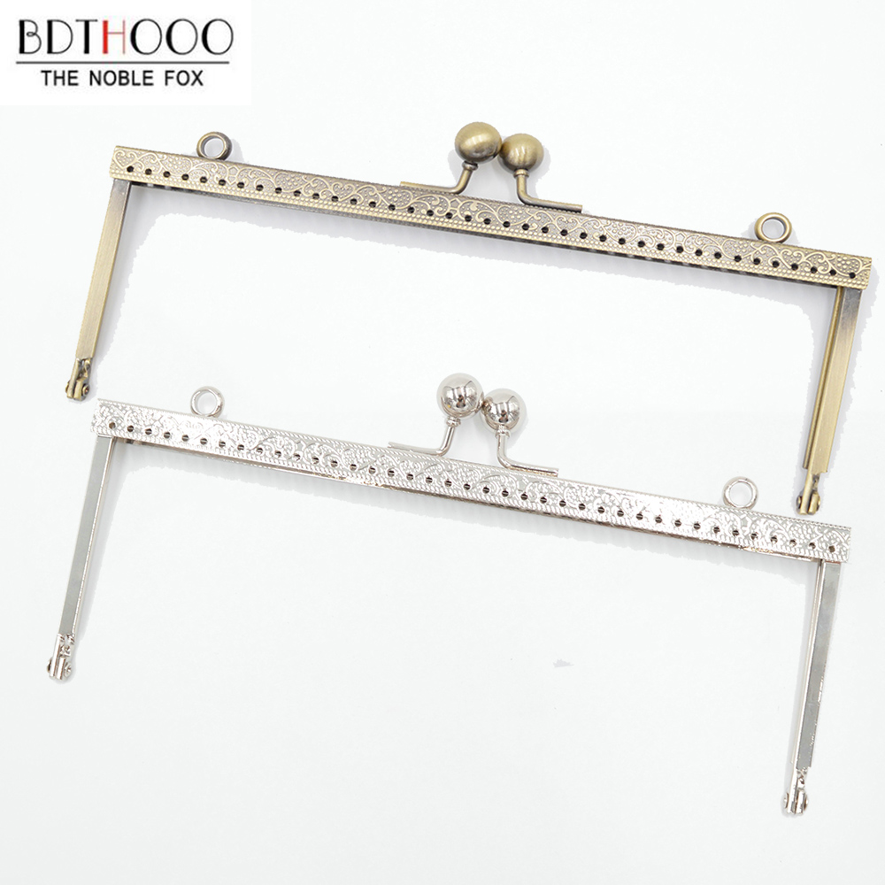 20cm Clasp Square Metal Purse Frame Handle For Clutch Bag Accessories Clasp Lock Bronze Tone Bags Hardware