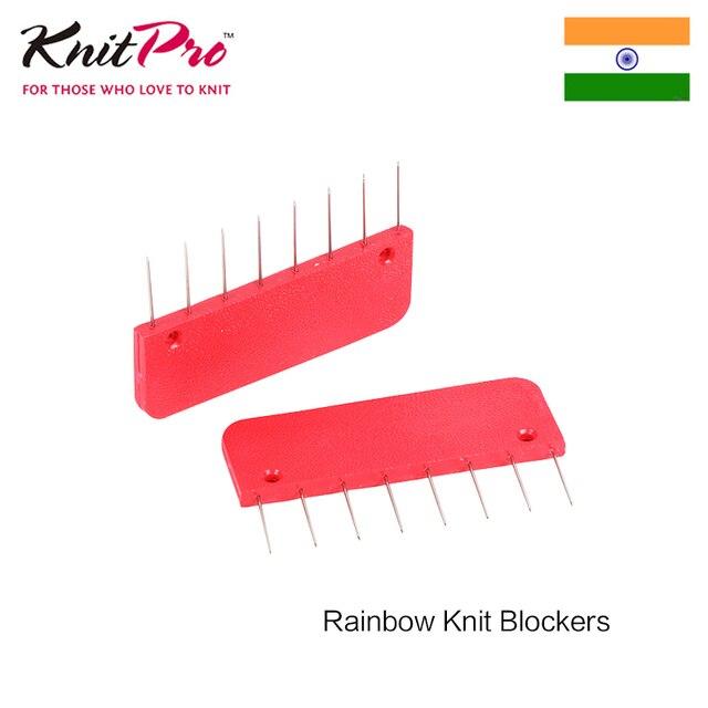 1 pacote de knitpro rainbow tricô blockers ferramentas de costura & acessório