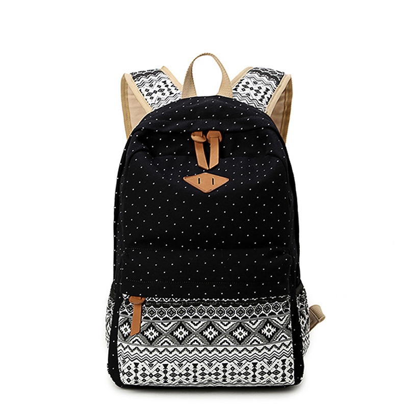 Canvas backpack women 2017 backpacks for teenage girls middle school students bag mochila escolar sac a dos