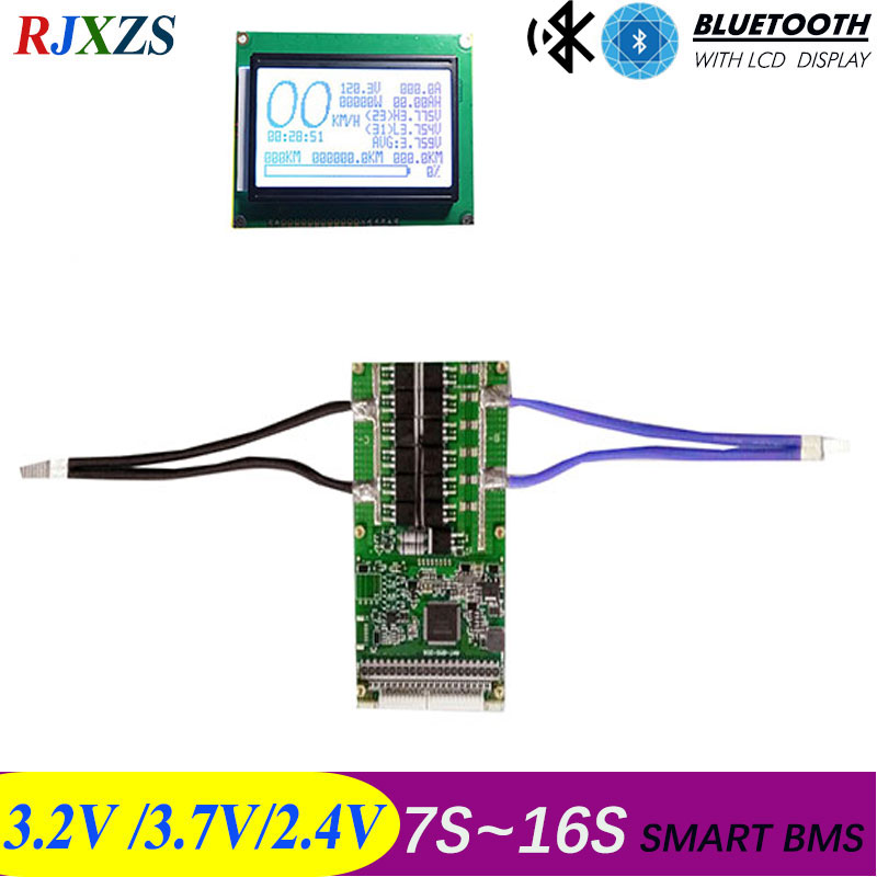 7S to 16S 50A 100A 2019 new DIY Lifepo4 li ion smart bms pcm with android