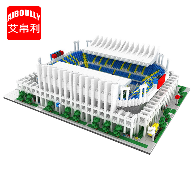 AIBOULLY 064 World Great Football stadium Field model building kits blocks Brick architecture Club Cup Toys