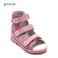 Princepard Summer Sandals Orthopedic Baby pink Sandals antiskid Girl Shoes Super Quality Kids shoes orthopedic baby shoes
