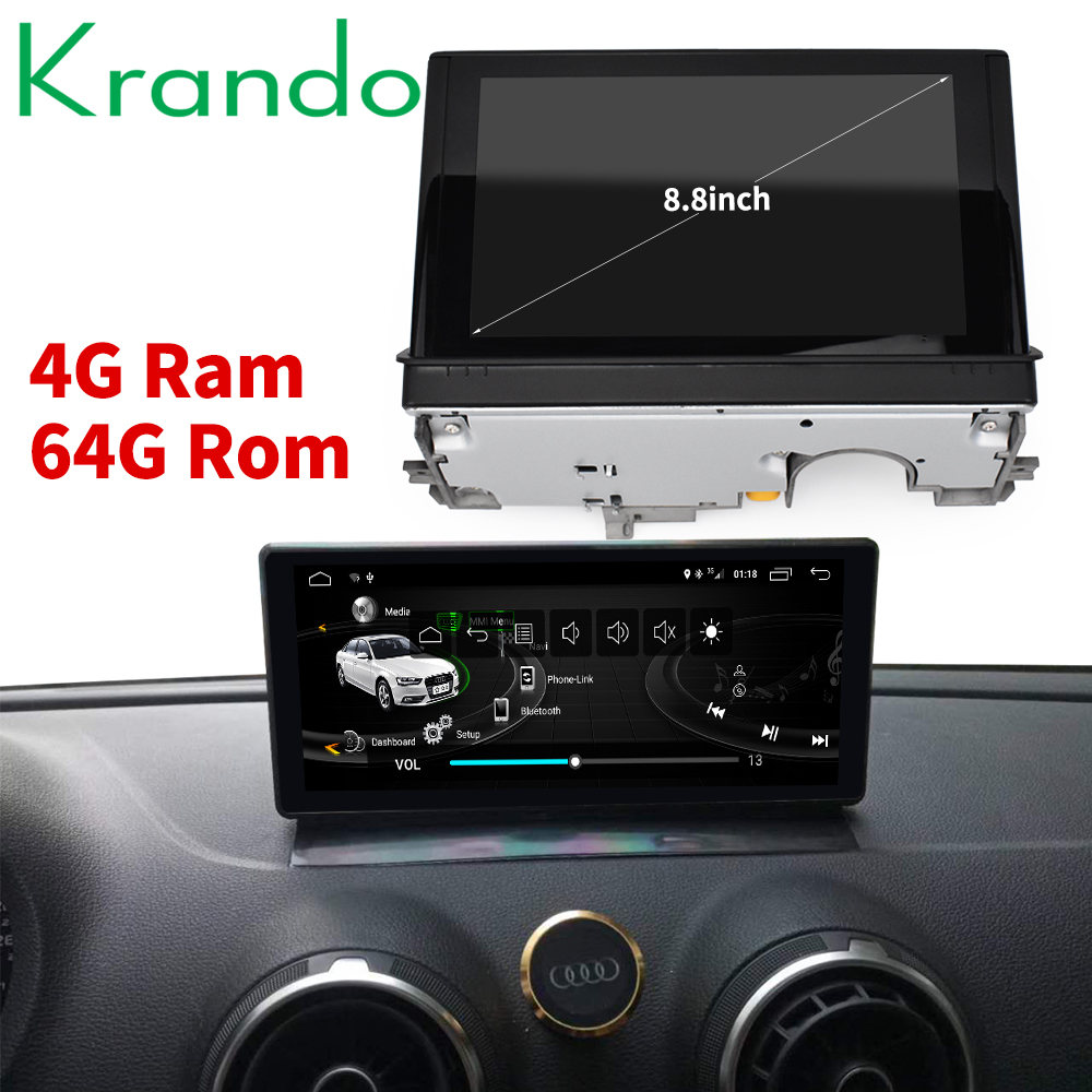 Krando Android 8.1 8.8'' car radio dvd navigation for Audi A3 2014 2017 multimedia player with bluetooth-in Car Multimedia Player from Automobiles & Motorcycles    1