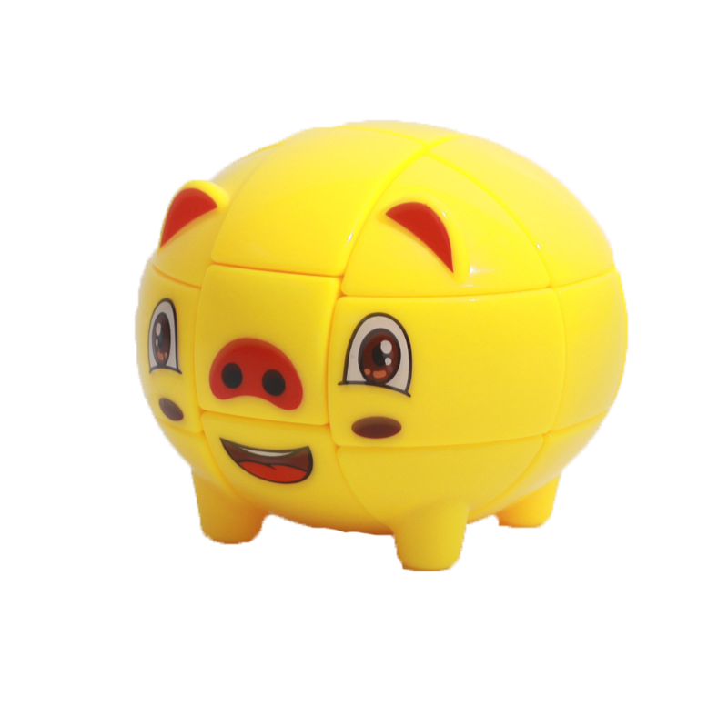 3x3x3 Cute Pig Shape Magic Cube For Beginner Early Educational Toys For Children