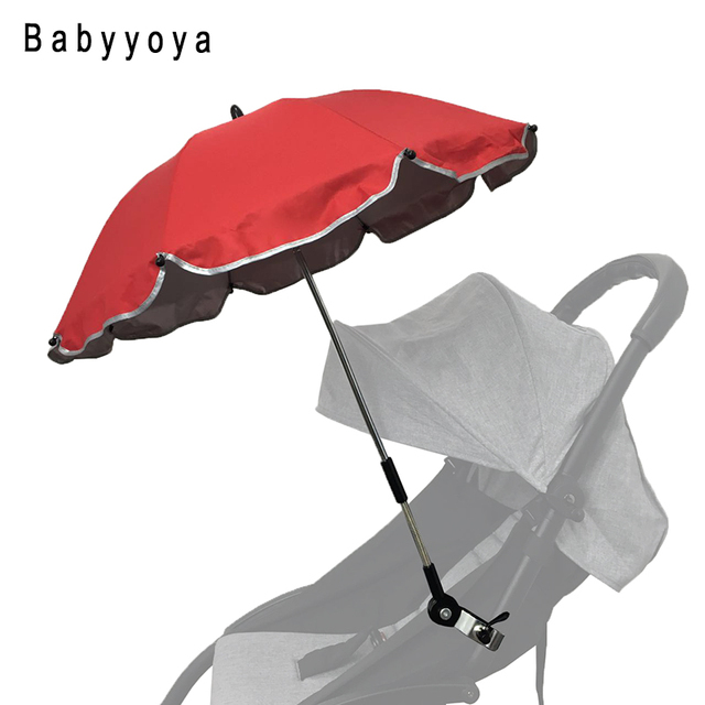 Colorful Umbrella Baby Yoya Stroller Accessories Sunshine Baby Children  Pram Shade Parasol Adjustable Folding For Chair