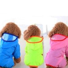 XS, S, M, L,XL Pet Dog Rain Coat Clothes Puppy Casual Waterproof Jacket Costumes jas hujan