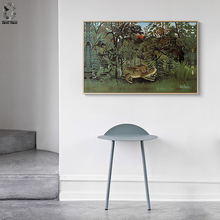 Henri Rousseau of French Artist Canvas Art Poster and Print Landscape Wall Painting Picture for Living Room Home Decor
