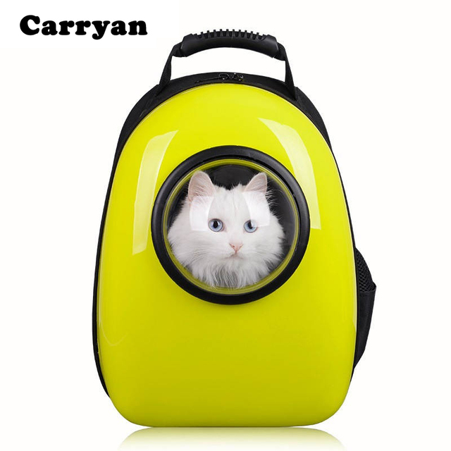 space capsule shaped pet carrier breathable pet backpack pc pet dog outside travel bag portable bag