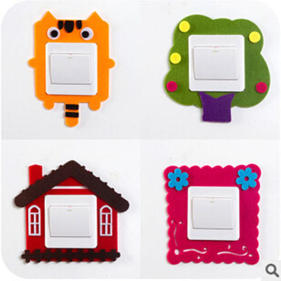 Bd h378 free shipping cartoon switch sets home decor 3d for Cute cheap home decor