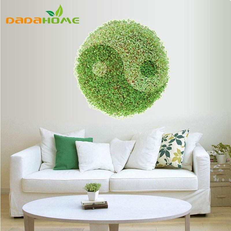 ᐃ3D mural hierba verde tai chi patrón piso revestimientos salón ...