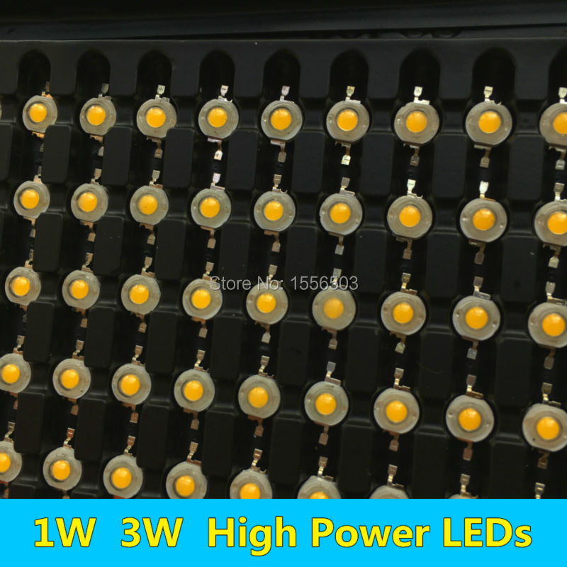 100 PCS 1W 3W LED Diode Chip High Power LEDs Light Source white warm red green yellow orange purple ice blue full spectrum 45mil ...