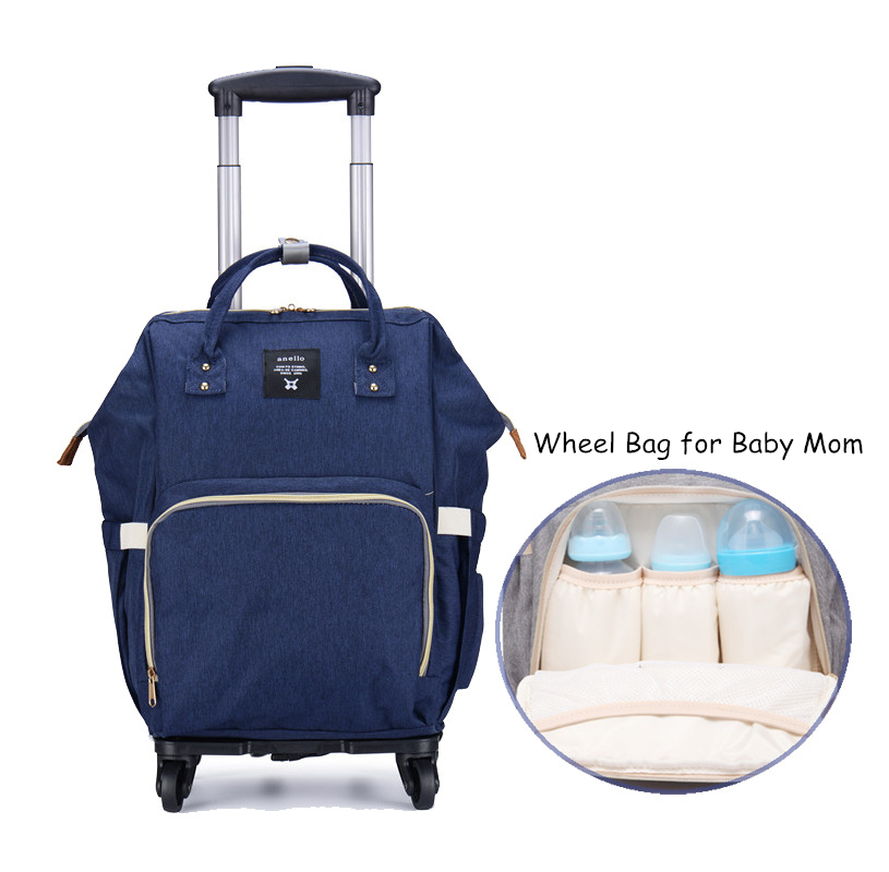 Wholesale!Baby momi wheel travel bag,large capacity canvas travel bag for women,detachable travel bag