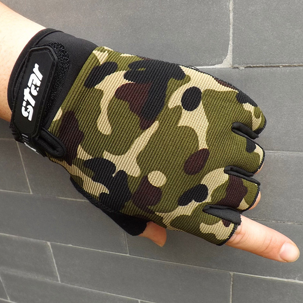 Fingerless-Gloves Cycling Antiskid Half-Finger Men's Bike Fitness Gym C10 Sports Hot-Sale