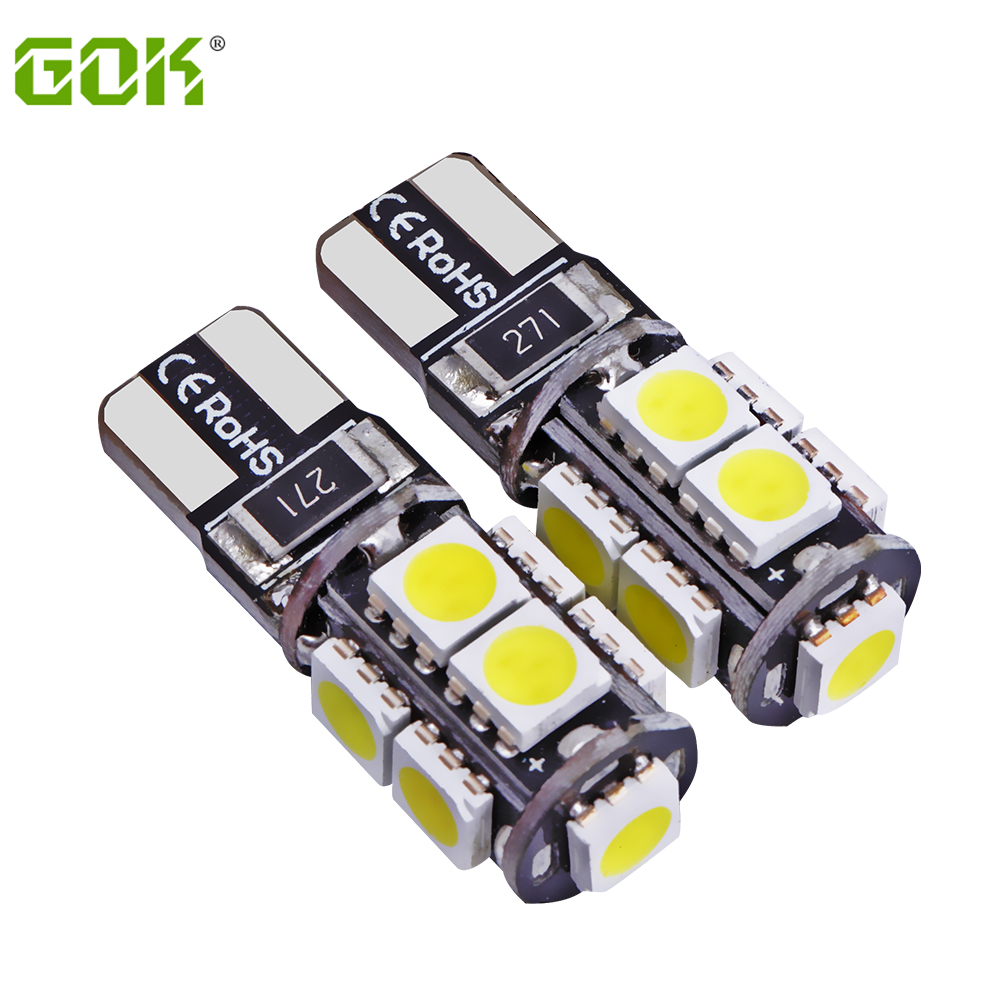 Free Shipping 100pcs lot Canbus Car LED SMD Light Canbus w5w T10 9led W5W canbus 194