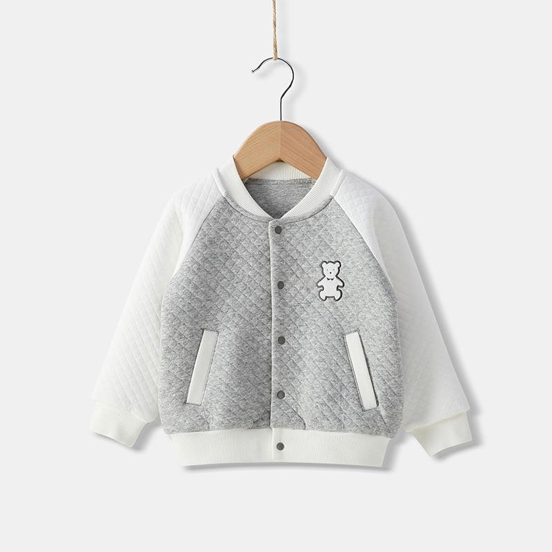 Spring/Autumn Children Coats Clothes Kids Baby Girls Cotton Baseball Jacket Warm Long Sleeve Costume Children'S Top Clothing