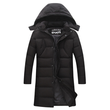 plus size  New Hot Qualited Thick Warm Zipper Unique Designer Mens Winter Jackets Padded Jacket Men Long Parka Coat With Hood