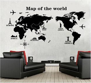 3D 60*120cm PVC IKEA WallPaper World Map Photo Wall Paper Travel ...