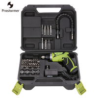 Prostormer EU Plug Screwdriver Rechargeable With Lithium Battery 3 6V 7 2V Household Electric Screwdriver With