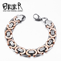 Beier 316L stainless steel  hot sale rose gold flat bracelet Machine knitting chain bracelet Fashion Jewelry  BR-C027