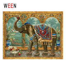 WEEN Africa Elephant Diy Painting By Numbers Animal Oil Painting On Canvas Fruit Cuadros Decoracion Acrylic Wall Art Home Decor цена