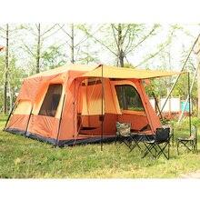 De luxe ultralarge un écran chambre deux chambres 6-8 Personne Camping En Plein Air Tente étanche family party tente gazebo soleil abri