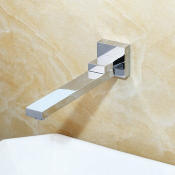 KEMAIDI Wall Mounted Basin Faucet Matte Black Bathroom Mixer Tap Hot Cold Sink Faucet Rotation Spout  Bathtub Shower Faucet 2pcs 9