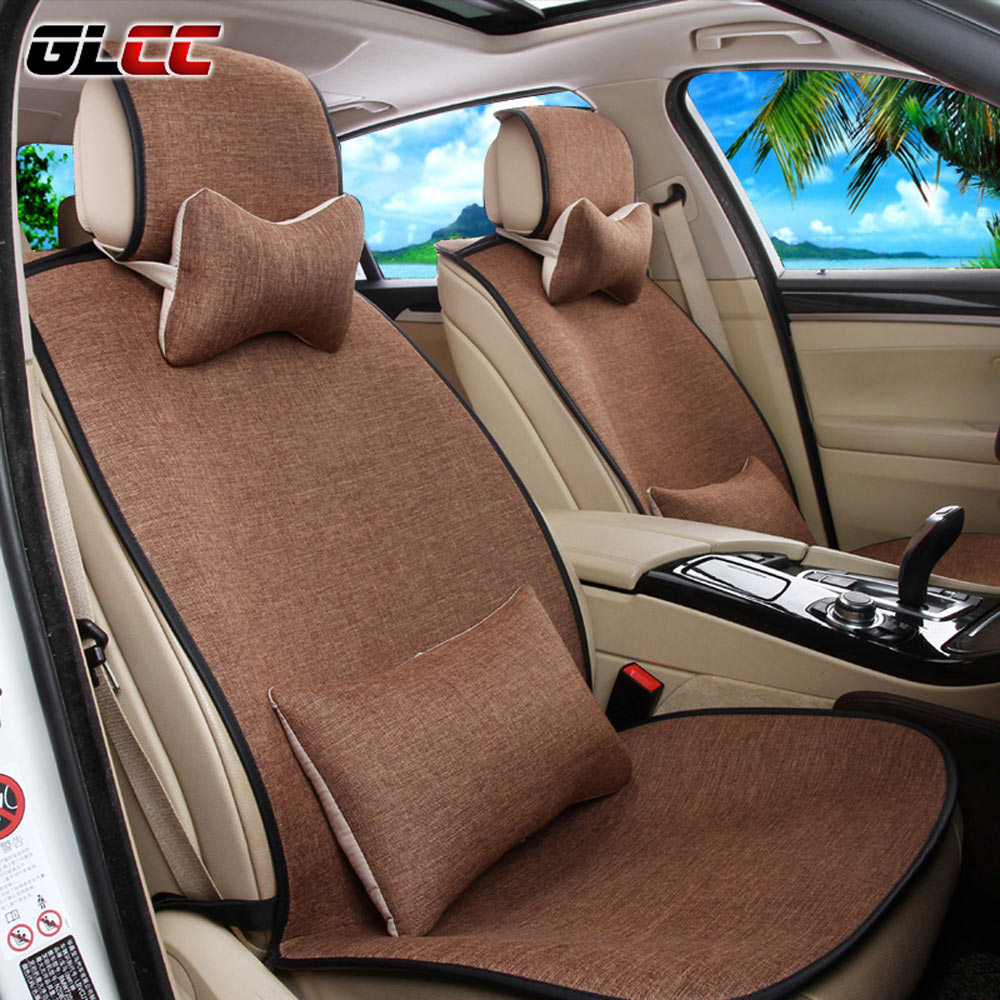 high quality linen full set car seat covers universal auto interior accessories auto covers. Black Bedroom Furniture Sets. Home Design Ideas