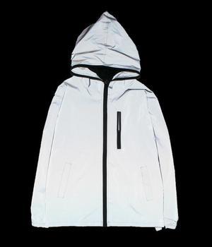 yizlo 3m full reflective jacket men / women harajuku windbreaker jackets hooded hip-hop streetwear night shiny coats 3m jacket Jackets