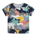T-shirt Boys Kids Camouflage Summer Tshirt Boys Summer O-neck Short Sleeve Boy Shirt Casual Boys Clothes 2665Z