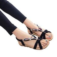 2017 Femmes D'été de Sandales Chaussures Peep-toe Bas Chaussures Sandales Romaines Dames Flip Flops Bohême Lady Sandales en gros A1000