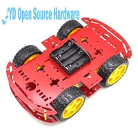1 Pc Red Motor Smart Robot Car Chassis Electronic Manufacture DIY Kit Speed Encoder Battery Box