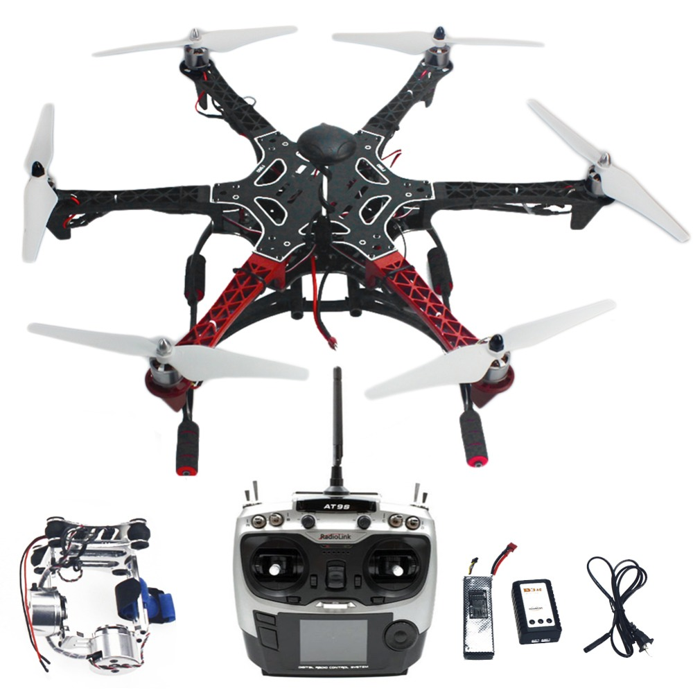 DIY RC Drone Assembled F550 6-Aix RTF Full Kit with APM 2.8 Flight Controller GPS Compass & Gimbal Accessory Parts F05114-AS assembled f550 6 aixs diy arf full kit with apm 2 8 flight controller gps compass